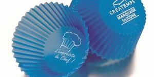 Marquage en tampographique de moules à gâteaux en silicone